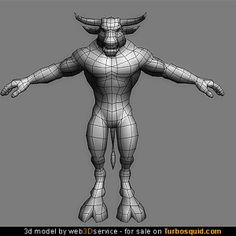 3D obj minotaur creature fantasy