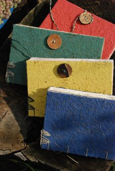 small sketchbooks - handmade paper covers