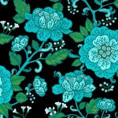 Cinnamon Turquoise  wallpaper by Vallila