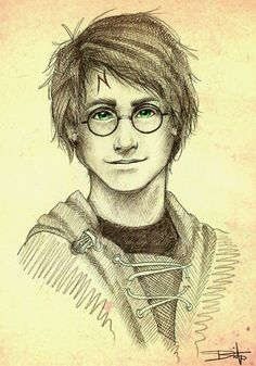 This is the most attractive fan art of Harry Potter I've ever seen. Ever. Frankly, I wish he actually looked like this.