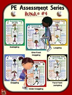 PE Assessment Series: Super Bundle: 24 Skill and Movement Assessment Packages Elementary Physical Education, Elementary Pe, Health And Physical Education, Pe Activities, Physical Activities, Peer Assessment, Pe Class, Pe Teachers, Pe Ideas