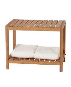 The handcrafted Creative Bath EcoStyles Bamboo Spa Vanity Bench is both practical and beautiful. It's smartly detailed, environmentally friendly bamboo top serves as functional seating, while the shelf below is perfect for holding towels or accessories. Spa Shower, Shower Seat, Shower Benches, Shower Bathroom, Teak Bathroom, Bathroom Ideas, Bathroom Things, Office Bathroom, Dream Bathrooms