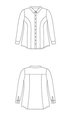 Harrison Shirt PDF pattern