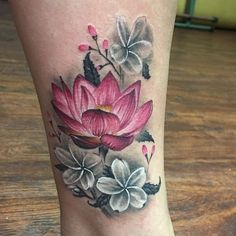 #lotus tattoo by Donovan White @donovans_ink based out of @570tattooingco  in Wilkes Barre Pa. For appts email: Donovanink@gmail.com  #flowers #lotustattoo #inked #colortattoo #legtattoo #pinklotus #nature #tattoos #tattoo #tattooart #tattoodesign #tattooideas #tattooartist #tattoocloud #tattooartistmagazine @tattoo.artists