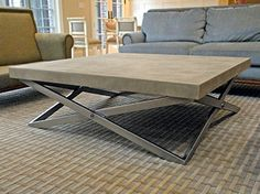 Custom Mobius Coffee Table   Contemporary   Living Room   New York   By  Trueform Concrete