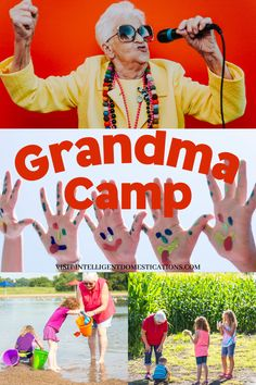 Grandma Camp ideas from a full time Grandma. Nothing is better than spending time with grandchildren no matter their age. Being the Grandma Camp Director means you are in charge of all activities, snacks and trips. We have ideas you can use based on what we have done in the past. #summerkidsactivities #grandmacamp Elderly Activities, Physical Activities, Activities For Kids, Home Schooling, Kids House, Fun Learning, Fun Games, Grandchildren, Homemaking