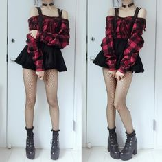 Beautiful Grunge Outfit Ideas Try Out Now! - Beautiful Grunge Outfit Ideas Try Out Now! Grunge Outfits, Edgy Outfits, Korean Outfits, Pretty Outfits, Girl Outfits, Fashion Outfits, Hipster Outfits, Gothic Outfits, Pastel Goth Outfits