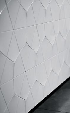 Greg Natale | Uscari store (detail) Leather Wall Panels, 3d Wall Panels, Tile Patterns, Textures Patterns, Feature Wall Design, Visual Texture, Interior Walls, Textured Walls, Surface Design