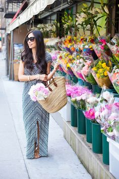 Love this patterned maxi