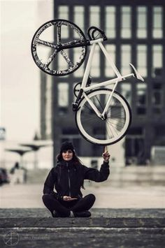 One Bike One Gear One Finger Great Pictures. Pedal on!!!