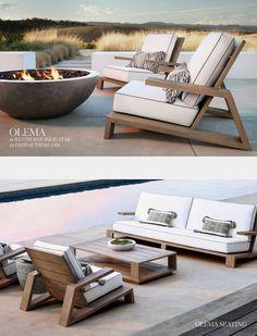 Olema outdoor Be outside Vintage Outdoor Furniture, Outdoor Furniture Plans, Deck Furniture, Outdoor Lounge, Outdoor Dining, Outdoor Spaces, Outdoor Chairs, Outdoor Decor, Diy Sofa