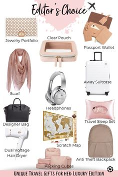 Travel Items, Travel Gifts, Travel Products, Gifts For Travelers, Travel Things, Amazon Products, Luxury Gifts For Women, Passport Wallet, Special Girl