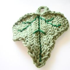 Wash cloth  Crochet ivy leaf  Woodland cotton by laMarmotaCafe, $6.00