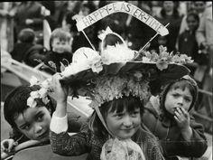 Sharon Mottram 5 years old , 1968 (© REX/Peter Pittilla / Associated Newspapers) Weird easter hats