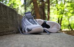 Air Jordan 14 Retro Wolf Grey Sport Blue- New Images - WearTesters ea39ab569