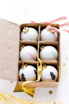 Ifra Lahell: J U L / Christmas balls from Asleepfromday on etsy