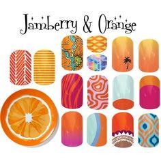 """Jamberry & Orange"" by angiodancer on Polyvore"