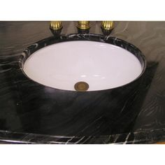 """BC012 36"""" Sink Vanity - a great vanity with Black and white marble. Perfect for a compact bathroom."""