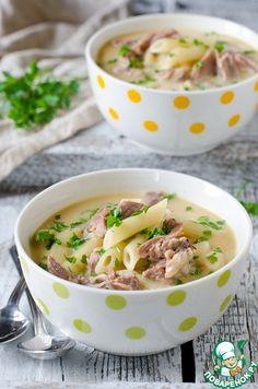 Куриный крем-суп с макаронами - кулинарный рецепт