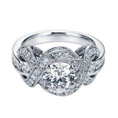 Antique Halo Diamond Engagement Ring Setting | Emma Parker