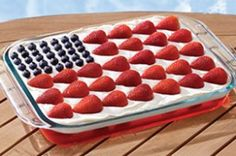 4th of july - dessert with the pretzel jello recipe from my Aunt Sue