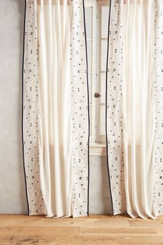 Sketched Edges Curtain - anthropologie.com