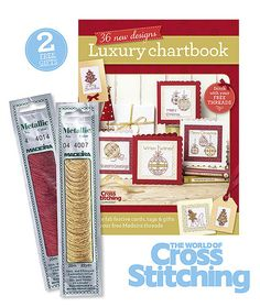 THREE FAB FREEBIES – This month you'll find bumper free gifts so you can get all glitzed up for the Christmas season! Glimmering gold and red metallic threads by Madeira will be oh-so-useful, plus we've a chart book packed with 36 new designs to use your threads. All free with issue 222 print edition of The World of Cross Stitching magazine, out now!