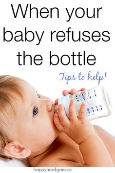 What to do when baby won't take a bottle. If you have to be away from your baby or head back to work, it can be extremely stressful if baby has trouble weaning from breast to bottle. There are lots of solutions here that might help you and your child. - Happy Hooligans
