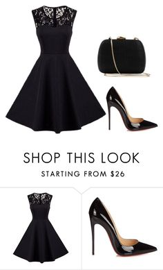"""Untitled #265"" by jovanaaxx on Polyvore featuring Christian Louboutin and Serpui"
