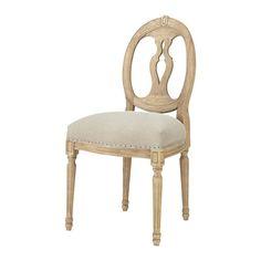 Fauteuil de salon lin montpensier maisons du monde for Chaise de calvin