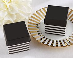 Classic Black and White Striped Favor Box (set of 48)- wedding guest favor box, bridal shower favor box or guest party favor box by Gracefuleventfavors on Etsy https://www.etsy.com/listing/225791336/classic-black-and-white-striped-favor