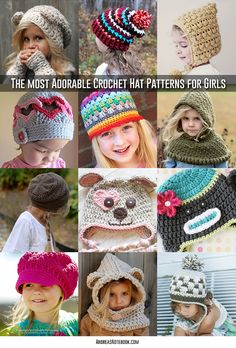 TONS of amazing crochet hat patterns for girls!