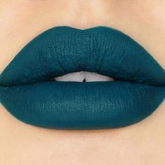U4EA Pretty Poison Lipstick By Sugarpill Cosmetics - U4EA (Euphoria) is a super saturated, darkened matte teal. Unconventional yet flattering on all skin tones!