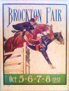 Brockton Fair Program, 1915. Brockton, Ma..