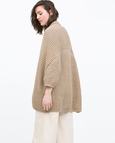 DRAPED CARDIGAN from Zara this looks like smth my mom would wear which is always a good thing