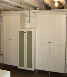 From California Closets · Laundry Room Storage Shaker Style Doors