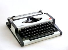 Vintage manual  typewriter  black and white  by ArtmaVintage, $145.00