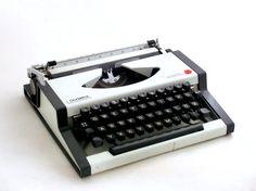 Vintage manual  typewriter  black and white  by ArtmaVintage, $145.00