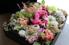 Box Flower Arrangement