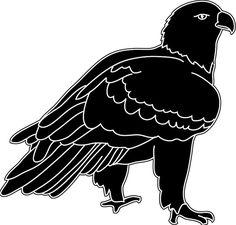 Silhouette of bald eagle