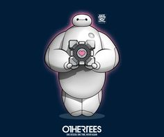"""Caring Companions"" by drsimonbutler T-shirts, Tank Tops, V-necks, Sweatshirts and Hoodies are on sale until March 7th at www.OtherTees.com #baymax #bighero6 #bigherosix #portal #othertees"