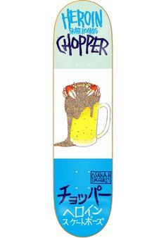 HEROIN  #Chopper #Beer #Crab #Deck #mint #white #blue #titus #skateboarding #skate #heroin #nodrugs