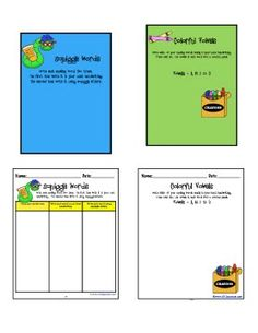 Clutter-Free Classroom: SPELLING ACTIVITIES TO USE W/ ANY WORD LIST