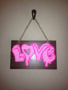 Love wooden sign made of repurposed wood by FaithinGodRanchshop, $5.00