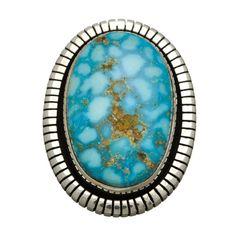 Bague Navajo Turquoise sur argent. | Harpo Paris