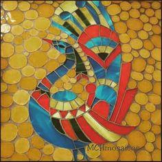 Diseño con vidrios en mosaico #color #mosaicart #arte #glass #design #decorhome #deco #mchmosaicos Trabajos por encargo. Castelar. Buenos Aires.