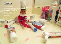 Ei the elf goes crazy with the toothpaste