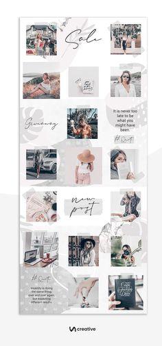 Instagram Feed Ideas Posts, Instagram Feed Layout, Feeds Instagram, Gray Instagram, Instagram Grid, Style Instagram, Grid Puzzles, Insta Layout, Grid Layouts