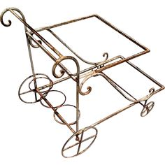 Great Wrought Iron Garden Patio Tea or Bar Cart: Removed Shabby Chic Garden, Romantic Shabby Chic, Shabby Chic Cottage, Shabby Chic Homes, Drink Cart, Tea Cart, Vintage Chandelier, Cottage Homes, Garden Inspiration