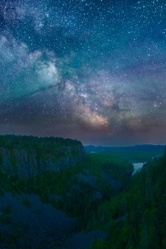 Ouimet Canyon Milky Way Panorama